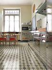 piastrelle dipinte a mano in ceramica pavimento rivestimento dama design bardelli