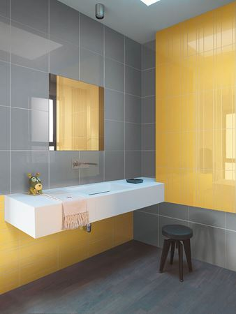 yellow and gray tiles of colore e colore