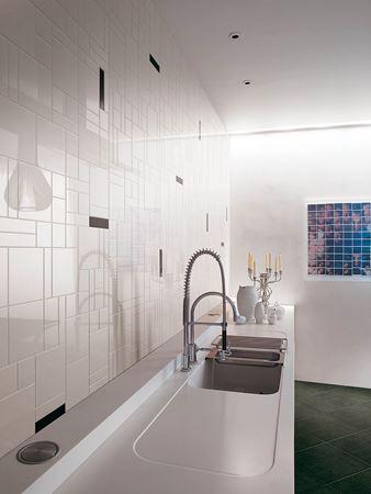 piastrelle in ceramica bagno cucina colore tinta unita bianco e nero 20x20