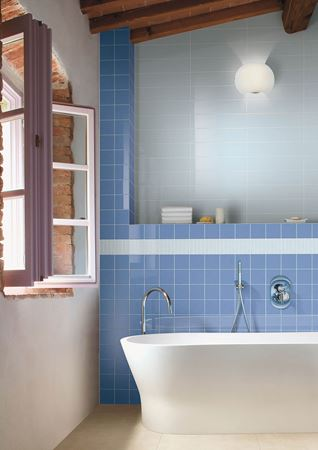 Blue and azure tiles collection of ceramica bardelli