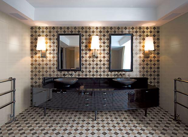 piastrelle fatte a mano in ceramica pavimento rivestimento dama design bardelli