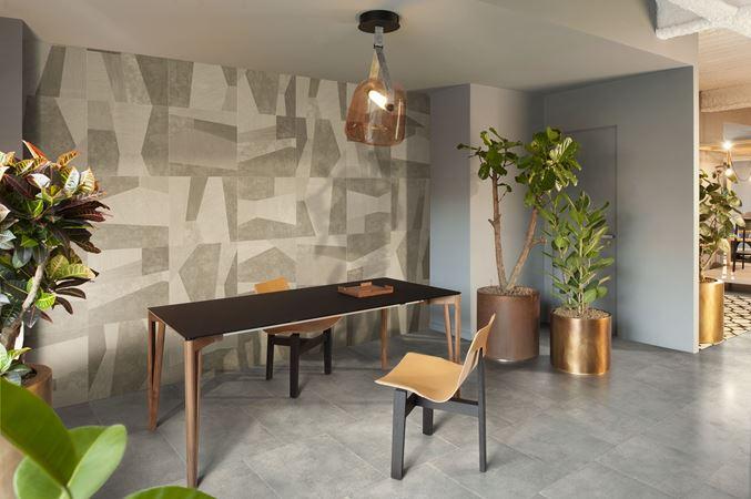 Palladiana design studiopepe for ceramicabardelli piastrelle in gres porcellanato grande formato 60x120 con fondo 60x60cm