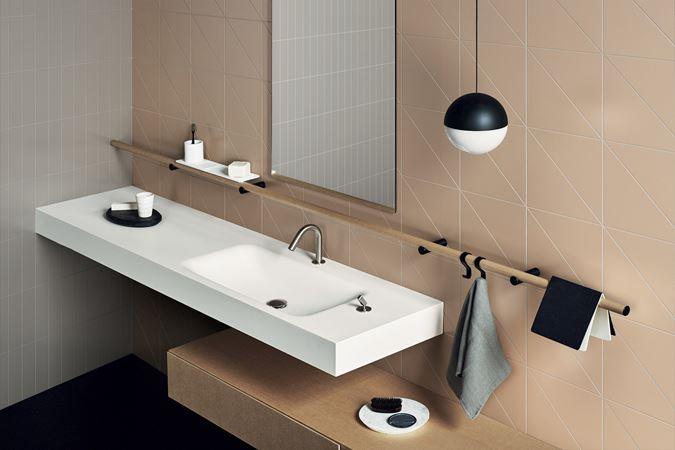 Pittorica studiopepe design piastrelle bagno tinta unita da pavimento e rivestimento